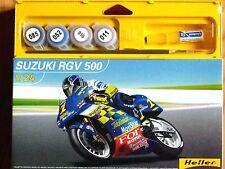 Heller 1:24 Suzuki RGV 500 Kenny Roberts 2001 Motorcycle Gift Set Model Kit