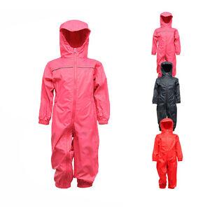 Regatta Kinder Regen Overall KIDS PADDLE RAIN SUIT Regenanzug Neu TRW466