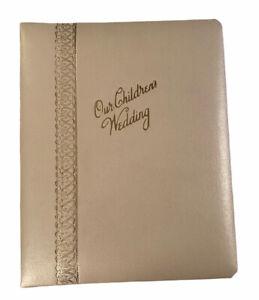 VG Wedding Family Vue Photo-Curio Photo Album Golden Metal Hinge Binding USA