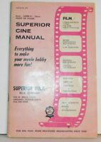 Vtg 1968 Superior Cine Manual Catalog 8 mm Super 8 16 mm Silent or Sound Film