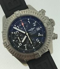 Breitling Avenger Titanium Automatic Chronograph Mens Black Dial Rubber E13360