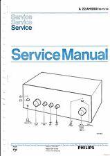 Manuel d'instructions service pour Philips A 22 Ah 590