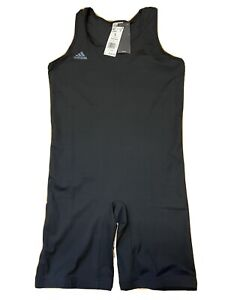 Adidas Men's Powerlift Suit Singlet Black Weightlifting CW5648 Size Large