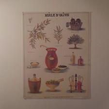 N2024 Tableau affiche huile olive musée scolaire LES FILS d'EMILE DEYROLLE Paris