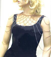 Women Double Shoulder Chain Tassel Necklace Body Chain Necklace Jewelry Wrap