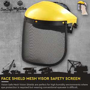 Mesh Face Shield Vision Safe Mesh Vision Shield for ChainSaw Brush Cutting