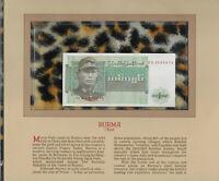Most Treasured Banknotes Burma 1972 1 Kyat P 56 UNC Prefix DU