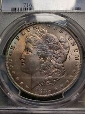 More details for 1885 morgan dollar ms63 graded pcgs