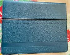 NWT Coach Camden Blue Pebbled Leather iPad Case Stand F62356 MSRP $198