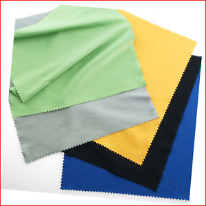 Eco-Fused Large Microfiber Cleaning Cloths - 5 Pack - 8 x 8 inch - Perfect for