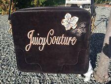 JUICY COUTURE Rare Black Velvet Like Laptop Computer Shoulder Bag Tote