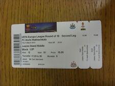 14/03/2013 Ticket: Newcastle United v Anzhi Makhachkala [Europa League] . Thanks