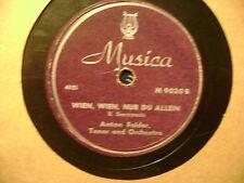 MUSICA 78 RECORD 9020/ ANTON FALDER/ BALLGEFLUESTER/WEIN WEIN NUR DU ALLEIN/ VG+