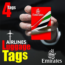 EMIRATES AIRLINE Luggage Tags ( 4pcs )