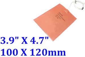 "3.9"" X 4.7"" 100 X 120mm 12V 10W Hive Pad Save Honey Beekeeper Flexible Heater"