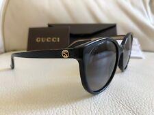 Neuf Gucci Cadre Noir Or Lunettes De Soleil Gg 3820/S Y6C90 54 19 140