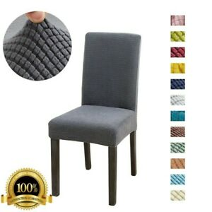 Waterproof Dining Chair Cover Elastic Chair Slipcover Stretch Chair Case Cushion