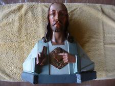 Antiek borstbeeld / buste Heilig Hart van G. Guelfi Art deco stijl Jesus