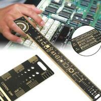 25cm 10 Inch Multifunctional PCB Ruler Measuring Tool Resistor Capacitor New