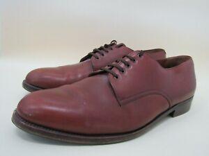Salvatore Ferragamo Men's Tan Leather Oxfords Size 11 D Made in Italy