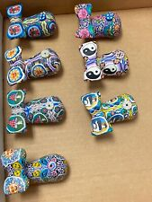 New Pick 1 Whale Shaped Incense Burner Polymer Clay Floral Hippy