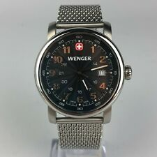 Wenger Mens Swiss Army Knife Mesh Stainless Steel Watch 1041.10