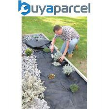 2 X Weedstop 1.5m X 8m Herbe Contrôle Feuille Natte Tissu Membrane Housse 50gsm