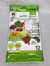 Debbie Meyer Green Bags 12-Pack (12M  Keeps Fruits, Vegetables, and ...
