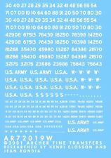 Archer AR72019W 1/72 WWII Dry Transfers-Non-Stencil US Registration Codes(White)