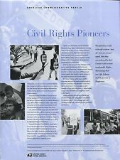 #4384 42c Civil Rights Pioneers USPS #835 Commemorative Stamp Panel