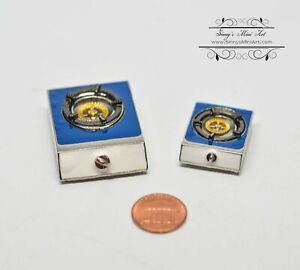 1:12 Dollhouse Miniature Gas Stove Top// Miniature Cookware  D192
