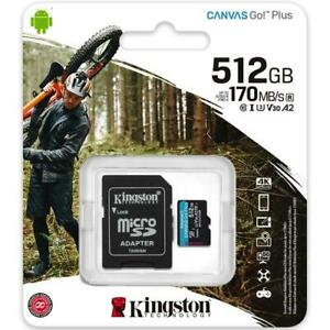 KINGSTON CANVAS GO PLUS MicroSD with adaptor 512GB up to 170MB/s