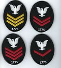 First, Second , Third Class Petty Officer patch USN E-4 E-5 E-6  Navy CROW(ONE)