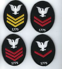 First, Second , Third Class Petty Officer patch Usn E-4 E-5 E-6 Navy Crow