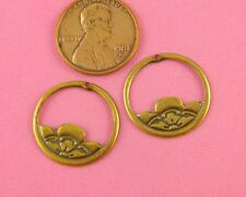 Small Ant Brass Cherry Blossom Motifs-2 Pc(s)
