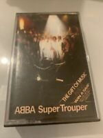 Abba - Super Trouper - EPC4010022 Cassette Tape White Shell Black Text Win SAAB