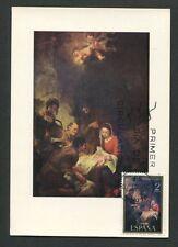 SPAIN MK 1970 WEIHNACHTEN CHRISTMAS NAVIDAD NOEL CARTE MAXIMUM CARD MC CM d8162
