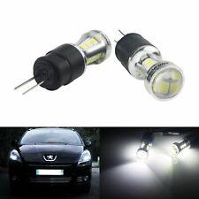 2 Ampoules LED HP24 Feux de jour diurne Roulage Blanc Peugeot 3008 5008 2009-up