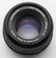 Minolta MD 50 mm 50mm 1.7 1:1.7 - XD-7 XD7 X700 Ø49 Filtergewinde