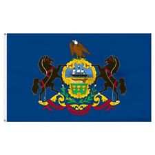 2x3 Pennsylvania SuperPoly Flag 2'x3' Banner Grommets Fade Resistant