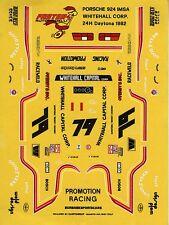 PORSCHE 924 imsa Whiteall Corporation. N°79 24H Daytona 1982 decals 1/43