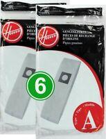 Genuine Hoover Type A Bag  Manufacturer Part # 4010001A  6/pk