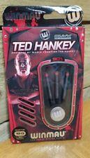 New listing Winmau Ted Hankey Darts Black Onyx Grip 90% Tungsten 18g softip 16g barrel - NEW