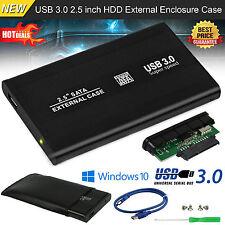 Hard Disk Drive Enclosure USB 3.0 / 2.5 inch External SATA HDD Case Caddy UK HQ