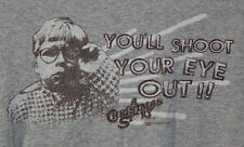 A Christmas Story Ralphie You'll Shoot Your Eye Out!! Gray T-shirt Adult 2XL