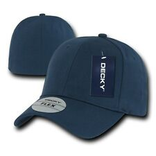 Navy Blue Plain Solid Blank Flex Baseball Fit Fitted Ball Cap Caps Hat Hats OSFA