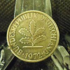 CIRCULATED 1972F 5 PFENNIG GERMAN COIN (90718)1.....FREE DOMESTIC SHIPPING!!!!