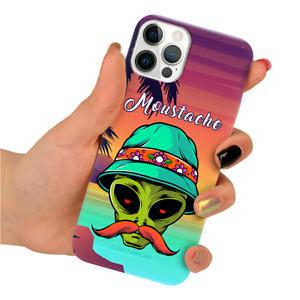 Tasche für APPLE iPHONE Clear Stilvoll Premium Handyhülle mit Viel Muster Aliens
