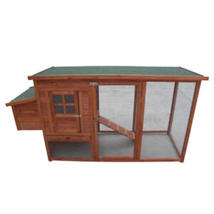 Chicken Coop NEW Large 198cm Long Hen house Chook Rabbit Hutch Run Cage P001