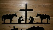"""20"""" PRAYING COWBOY AND COWGIRL  Hand Made in Waco Texas"""